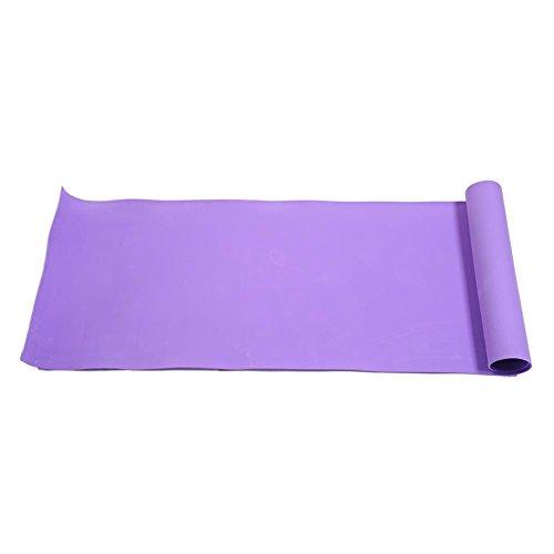Dire-wolves Premium Yogamatte - Gymnastikmatte, Fitnessmatte, trainingsmatte oder Zuhause mit Schultertragegurt Unisex Fitness Matte für Yoga Pilates Fitness Gymnastik, 176 * 60 * 0.4 cm-Violett