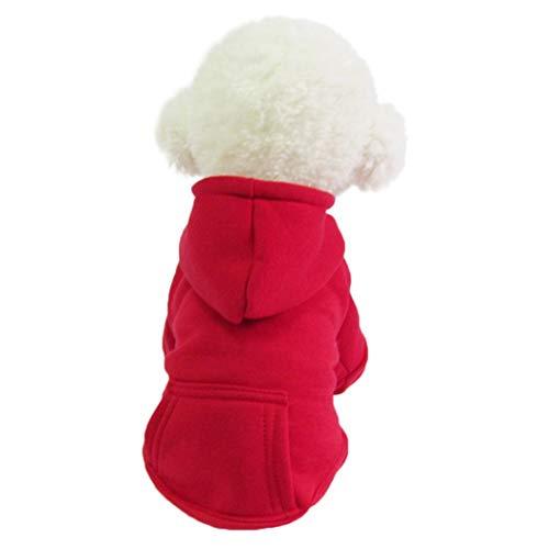 nernes Felpa con Cappuccio per Abbigliamento con Cappuccio Solido per Cani di Piccola Taglia Casette per porcospini