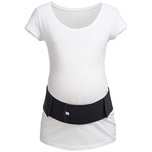 Herzmutter Bauchgurt-Schwangerschafts-Stützgürtel-Bauchband | größenverstellbarer Schwangerschaftsgurt | Bauchgurt Schwangerschaft | Gymnastik-Yoga-Sport | 3200 (XXL/XXXL, Schwarz)