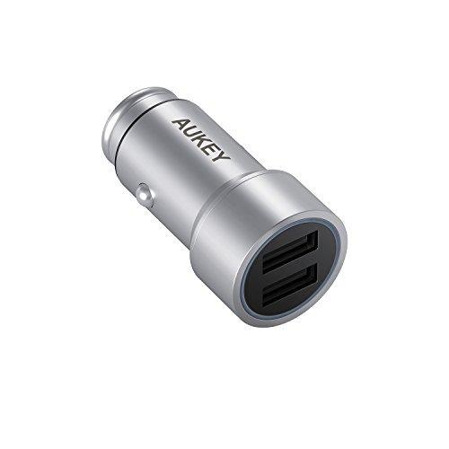 AUKEY Chargeur de Voiture Double Port USB 2.4A + 1A avec AiPower Technologie pour iPhone, iPad, HTC, HUAWEI, Xiaomi et Plus