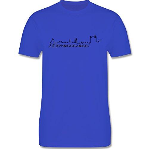 Skyline - Bremen Skyline - Herren Premium T-Shirt Royalblau