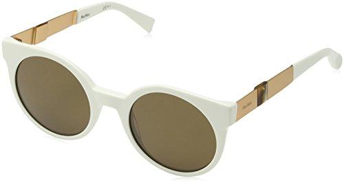Max Mara Damen MM STONE II OC R1A 52 Sonnenbrille, Weiß (White Cpprgd/Brown),