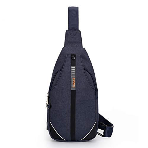 Neusky Wasserdichte Slingbag Bodybag Schultertasche, Schulter Brusttasche für Herren Damen und Kinder (Blau2019)