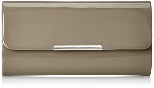 Berydale Women's Polished Clutch with Additional Chain, Grey (Taupe), 26x11x6 cm (B x H x T)