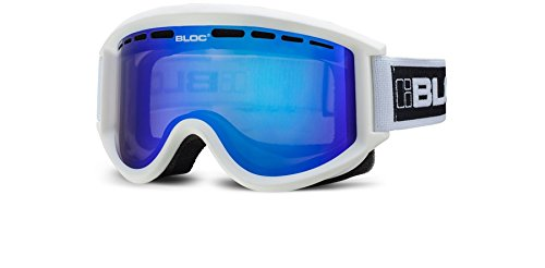 Bloc Goggles A09 Matte weiss Aero Visor Goggles Lens Category 3 Lens Mirrored