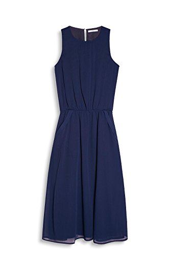 edc by ESPRIT Damen Kleid Blau (Navy 400)