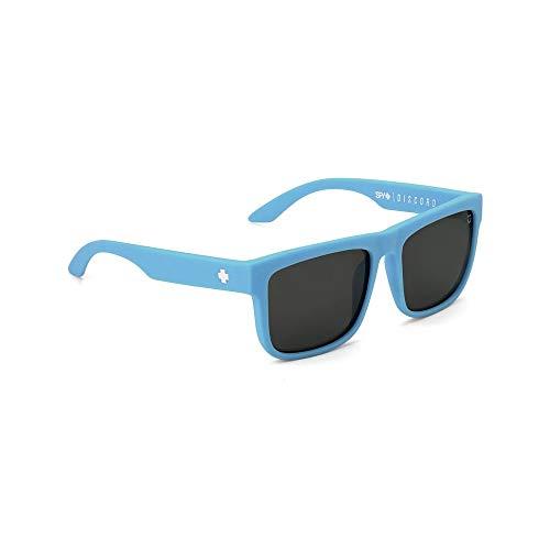 Spy Herren Discord Sonnenbrille Wayfarer Einheitsgröße Blau - Matte Blue - Happy Bronze Polar/Black Mirrow