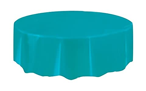 AWESOME VALUE Packs of 4 Round Plastic Tablecovers in a choice of 17 STUNNING COLOURS + CLEAR *** FREE UK POSTAGE ***