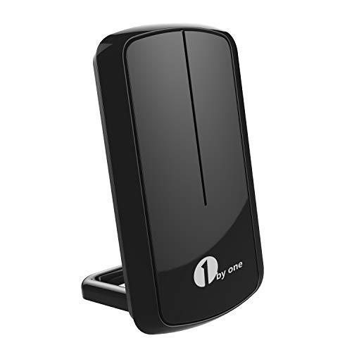 1byone DVB-T/DVB-T2 TV Antenne Zimmerantenne Indoor 1080P Full HDTV Antenne, Digitale TV-Antenne für Fernsehen/Receiver, VHF/UHF/FM, eingebauter Verstärker - Schwarz