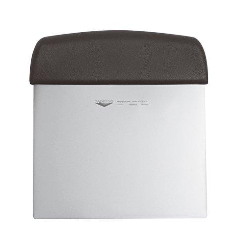 Paderno tagliapasta flessibile – raschietto tagliapasta professionale con manico, lama in acciaio inox, manico in polipropilene, 12 cm x 9,5 cm