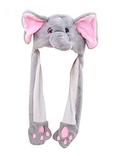Seasaleshop Elefante Ears Sombrero de Elefante de Felpa, Sombrero móvil Glow Animal Ears Cap Gorro de Felpa Airbag Sombreros Gorras Diadema Juguetes Disfraces Cosplay