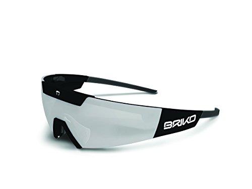 Briko Cerberus Sonnenbrille Radfahren Unisex, Schwarz, Einheitsgröße