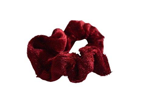 Cheveux en caoutchouc en velours rouge
