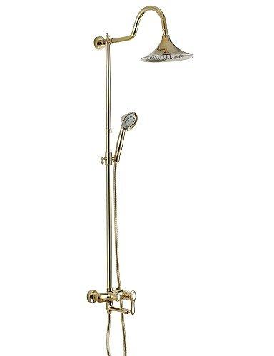 Vintage Style oro Ti-PVD Due fori maniglia singola con 8