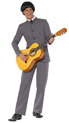 Smiffys Déguisement Homme Pop Star Années 60, Veste et Pantalon, 60's Groovy Baby, Serious Fun, Taille L, 39353