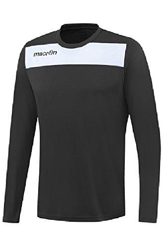 T-Shirt Sportiva Bicolore Manica Lunga da Calcio Calcetto Macron Andromeda Shirt Nero