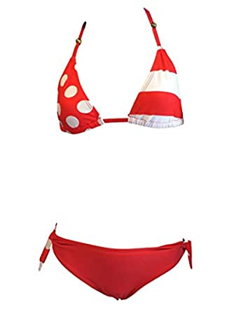 Ragazze Bikini Spot rosso/costume da bagno. Età 7-16 (122-176) (Età 15-16 (170-176))
