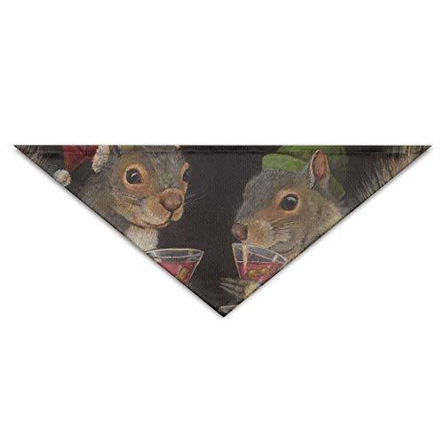 Hectwya Weihnachtscocktail-Eichhörnchen-Hundebandana-Lätzchen Welpen-Katzen-Kopfschal-Zubehör