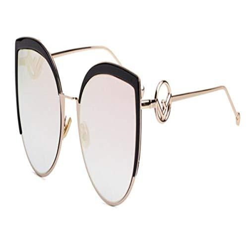 Occhiali da sole sportivi, occhiali da sole vintage, brand sexy cat eye sunglasses high fashion women new designer big sun glasses female gradient reflective glasses uv400 c3 rose pink lens