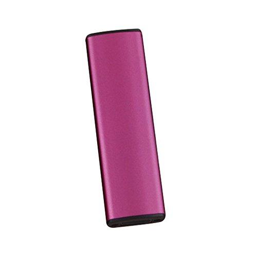 Rosepoem Encendedor de cigarrillos electrónico Encendedor a prueba de Viento Recargable Encendedor de cigarrillos Iluminación de Doble cara - Rosa roja