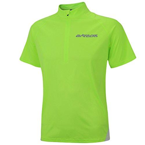 Airtracks FUNKTIONS Laufshirt Kurzarm AIR TECH/Running T-Shirt/Funktionsshirt/ATUMUNGSAKTIV - neon - L