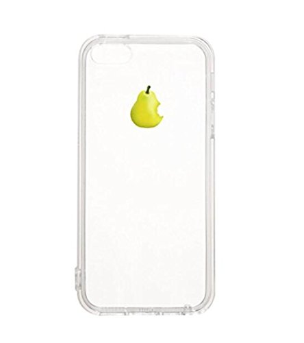 Pacyer® iPhone 7 Custodia Slim fit Frutta TPU Gel Silicone Transparente Protettivo Skin Shell Case Cover Per Apple iPhone 7 (4.7) Pera