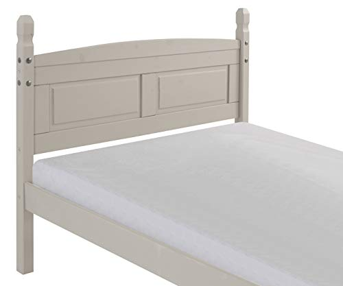 "Mercers Furniture Trade Corona Grey Wax 4'6"" Low End Bed Frame"