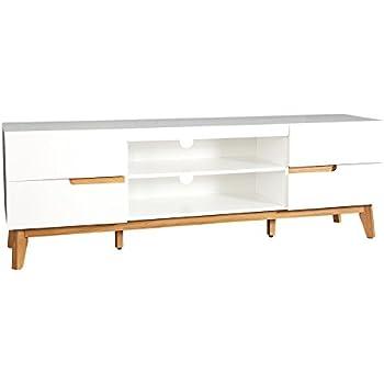 Design TV-Lowboard CERVO 170 cm Original MCA matt weiss lackiert ...