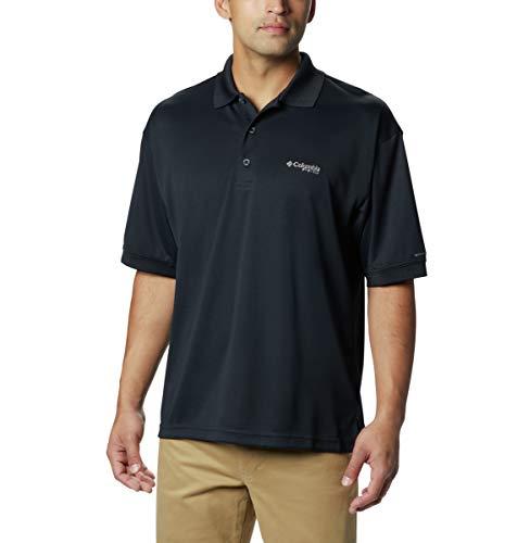 Feuchtigkeit Wicking Golf Polo (Columbia Herren perfekt Guss Polo Shirt Größe L Schwarz)