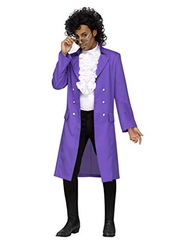 Horror-Shop 80s Purple Rain Kostüm für Fasching One Size (Purple Prince Kostüm Rain)