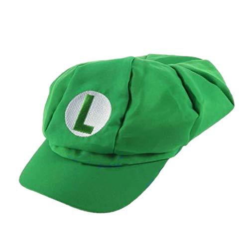 FKY Neue Mode Luigi Super Mario Bros Cosplay Erwachsene Größe Hut Cap Baseball Kostüm