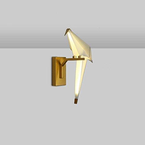 (Moderne Einfache Einzelkopf Wandleuchte Wohnzimmer Thema Restaurant Freizeit Bar Personalisierte Schlafzimmer Vogel Vogel Papier Wandlampe Origami Kreative Leuchte (größe : 16.5cm) Innen Beleuchtung)