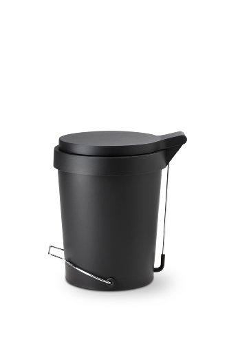 Authentics 1086999 Bac à ordures de Cuisine Noir Plastique