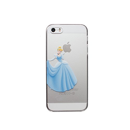 NEW Disney PRINCESSES Transparent TPU Soft case for Apple Iphone 5/5S 6 & 6+ (Apple Iphone 6+, Ariel) by Ronneys CINDERELLA