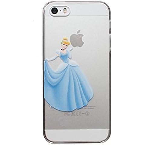 Nueva princesas Disney TPU transparente suave para Apple Iphone 4/4S 5/5S 5C 6/6S y 6+/6+ S * Comprobar oferta especial *, plástico, CINDERELLA, iPhone