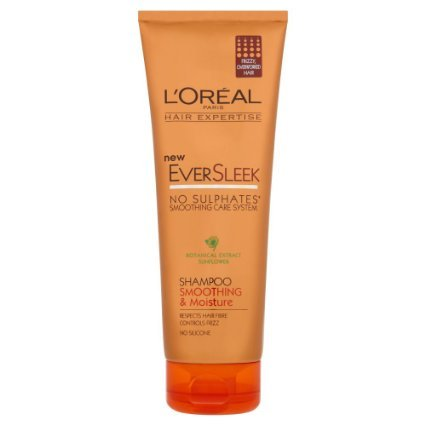 Loreal Paris EverSleek Smoothing & Moisture Shampoo (No Sulphates) 250 ml wit... image