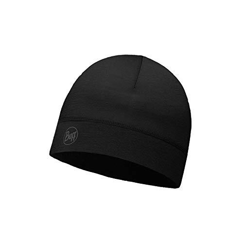 Buff ThermoNet Mütze, Solid Black, One Size Merino Winter Cap
