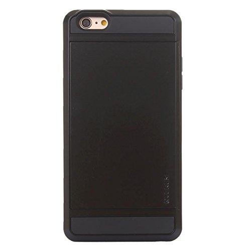 Für IPhone 6 Plus / 6S Plus Blade PC + TPU Kombi-Gehäuse mit Kartensteckplatz DEXING ( Color : White ) Black