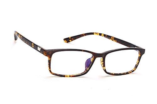 MFAZ Morefaz Ltd Damen Herren Blaulichtfilter Brille Blendschutz, Anti, Kratzfestes Objektiv Computer TV Anti Glare Glasses (Panther T8001)