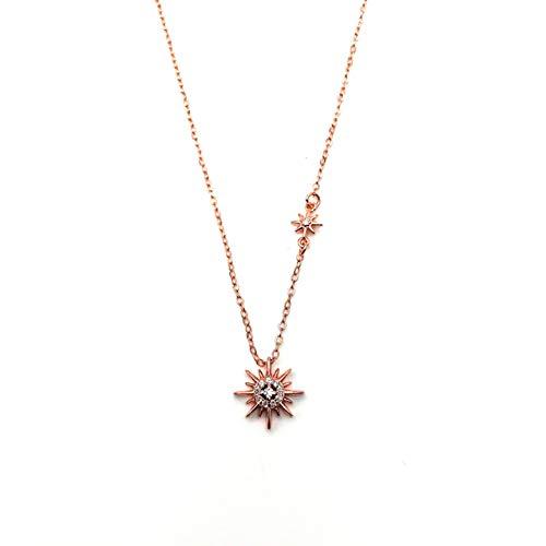 Sonne Göttin Kostüm - TYZDY Damen Halskette Sonne Anhänger Halskette weibliche S925 Sterling Silber Schlüsselbein Kette