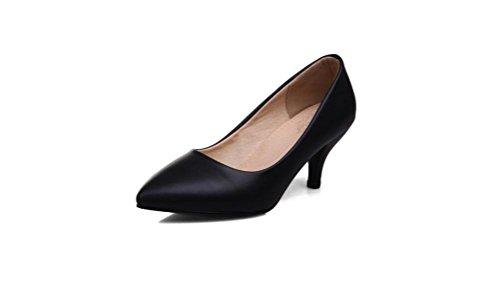 Beauqueen Pumps Femmes Printemps Et Eté Talon Haut Plain Femmes Pointues Toe Blanc Beige Noir Bottes De Travail Chaussures Occasionnels Europe Taille 33-47 White