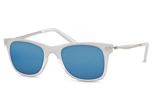 Vintage Sonnenbrille im angesagten 60er Style mit trendigen bronzefarbenden Metallb/ügeln Panto Retro Brillen Gradient