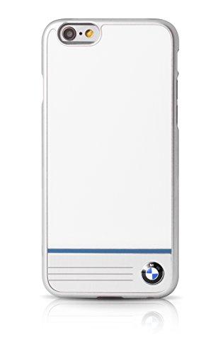 BMW BMHCP6WGPB Einzel Streifen Aluminium-Platte Harte Schutzhülle für Apple iPhone 6/6S 11,9 cm (4,7 Zoll) weiß Apple-platte