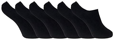 6 paar damen bambus unsichtbar anti schweiß sneaker socken / füßlinge mit silikonferse (37-41 eur, BNSTL Black)