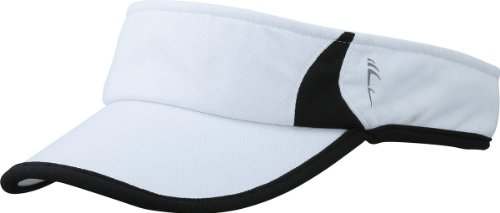 Myrtle Beach Uni Cap Running Sunvisor, white/black, One size, MB6545 whbl
