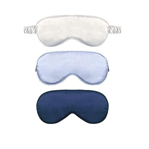 JIHUOO 3 Stück Einstellbar Mädchen Junge Schlaf Augenmaske Schlafmaske Augenbinde