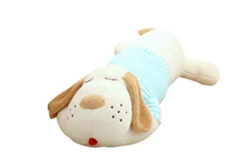 Plüsch Spielzeug Hund, 40/70/90 cm Plüsch Spielzeug Große Schlafenhund Gefüllt Welpen Hund Weiche Tier Spielzeug 40CM (ohne Reißverschluss) blau -