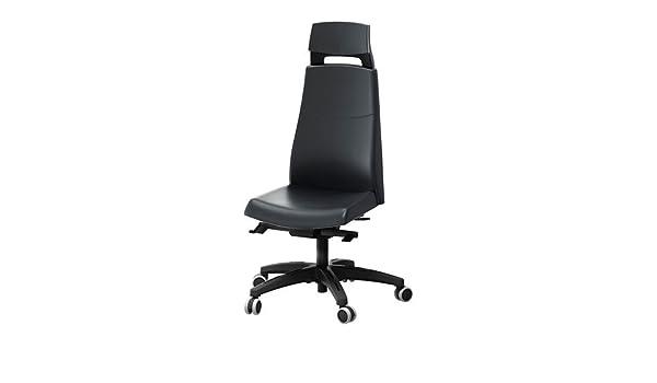 Sedia Ufficio Ikea Volmar : Ikea volmar sedia girevole con poggiatesta mjuk nero amazon