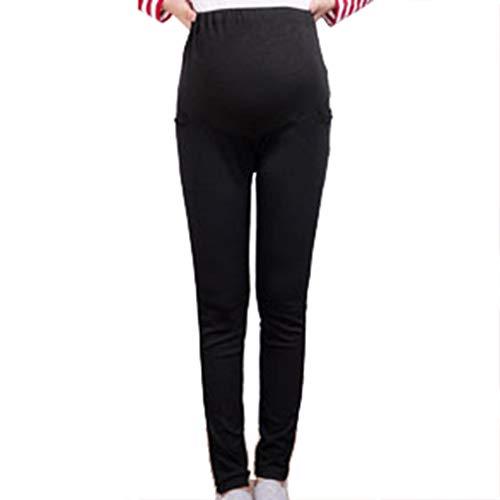 Wetry leggings premaman donna cotone pantaloni premaman skinny gravidanza leggings elasticizzati termici pantaloni