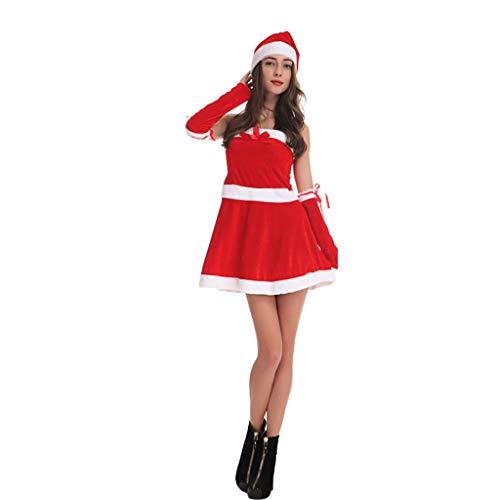 Santa Kostüm Weiblich - QIANDING shengdan Weihnachten Kostüm Weibliche Erwachsene